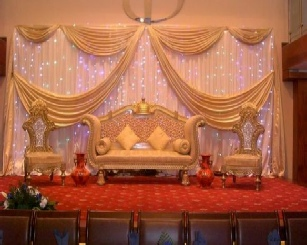 Asian wedding stage hire mandap hire indian wedding for Asian wedding stage decoration manchester